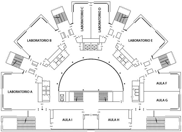 Aule e laboratori piano secondo